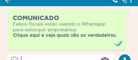 BANNER - Falsos fiscais pelo whatsapp