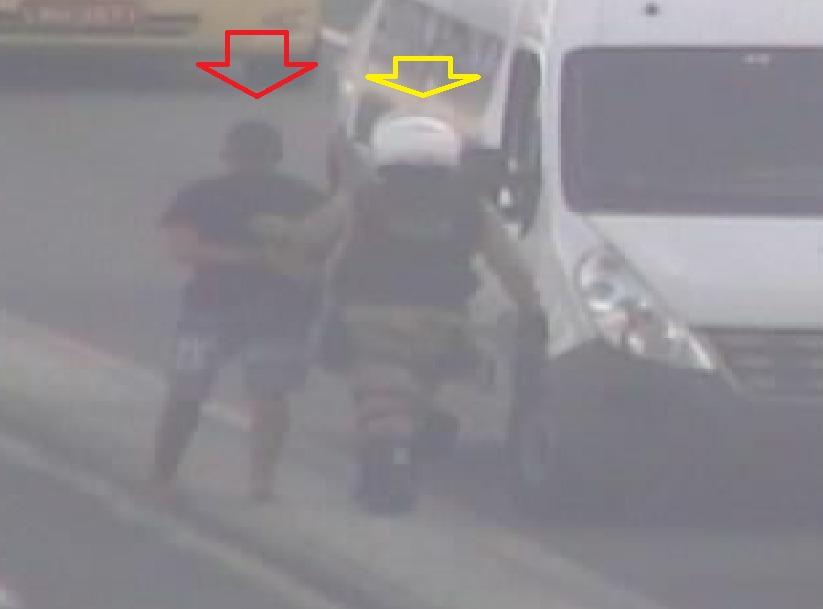 Guardas prendem homem após flagrante de roubo de cordão feito por câmeras