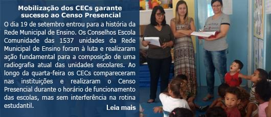 Mobilização dos CECs garante sucesso ao Censo Presencial