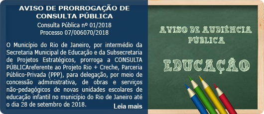 AVISO DE PRORROGAÇÃO DE CONSULTA PÚBLICA