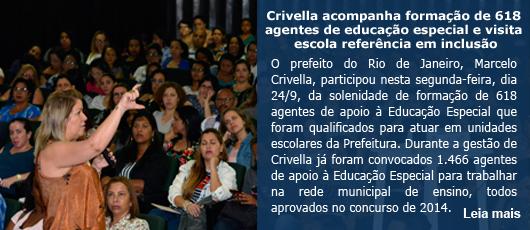Crivella acompanha formação de 618 agentes de educação especial e visita escola de referência
