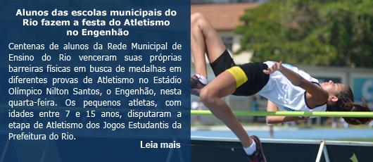 Alunos das escolas municipais do Rio fazem a festa do Atletismo no Engenhão