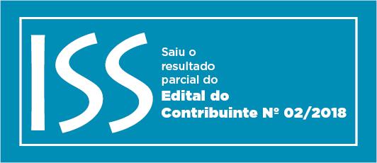 EDITAL DO CONTRIBUINTE Nº 02/2018