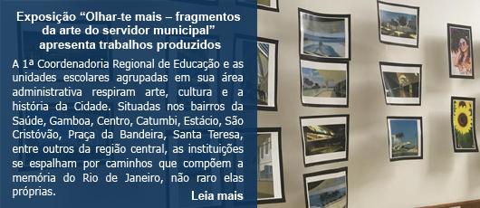 """Exposição """"Olhar-te mais – fragmentos da arte do servidor municipal"""" apresenta trabalhos produzidos"""