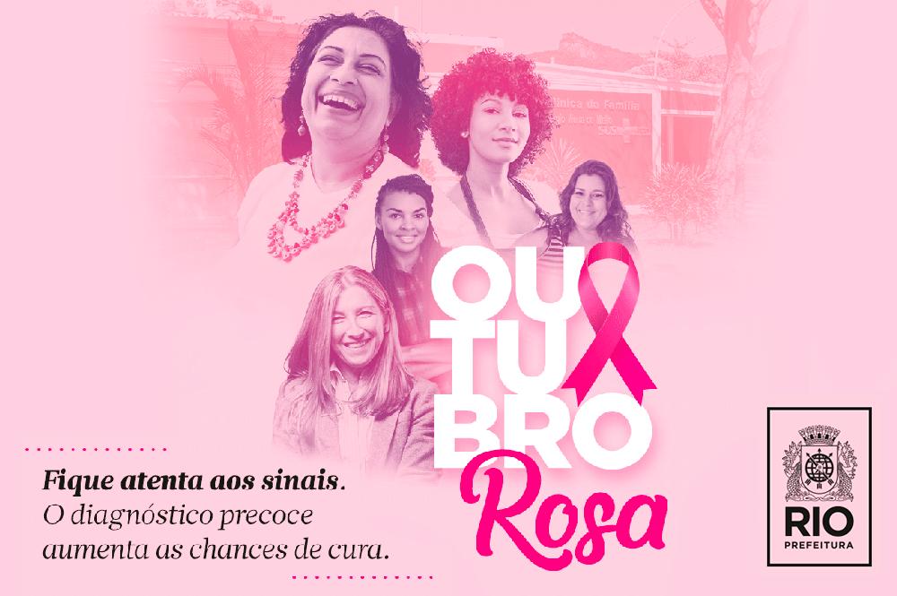 Ações sobre prevenção do câncer de mama e de colo do útero marcam Outubro Rosa