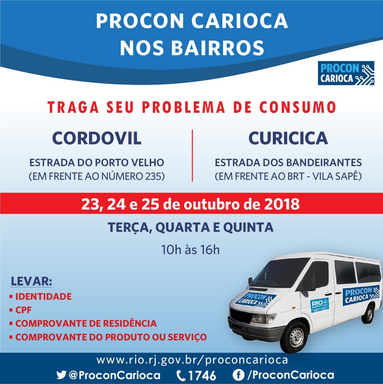 Cordovil e Curicica recebem atendimento do Procon Carioca