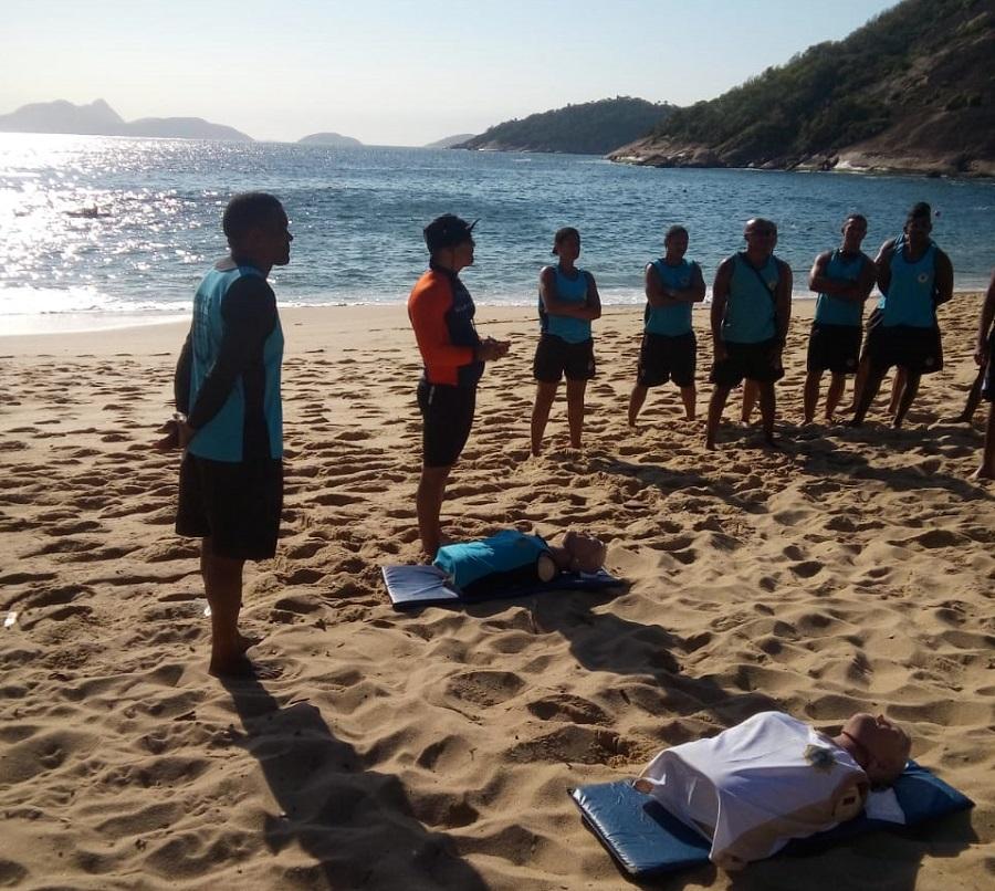 Guarda Municipal realiza treinamento especial com foco na prevenção de afogamentos