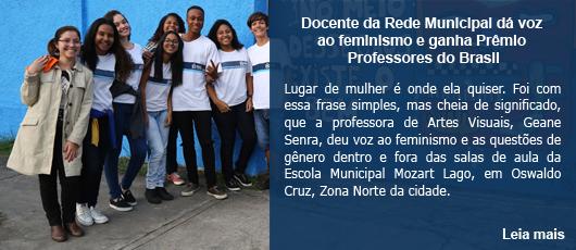Docente da Rede Municipal dá voz ao feminismo e ganha Prêmio Professores do Brasil