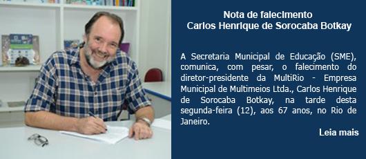Nota de falecimento - Carlos Henrique de Sorocaba Botkay