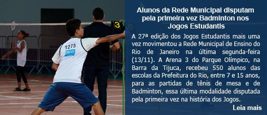 Alunos da Rede Municipal disputam pela primeira vez Badminton nos Jogos Estudantis