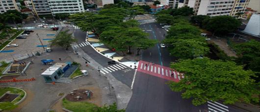 Intervenções realizadas para realização de projeto piloto: Rio + Pedestre, na Tijuca.