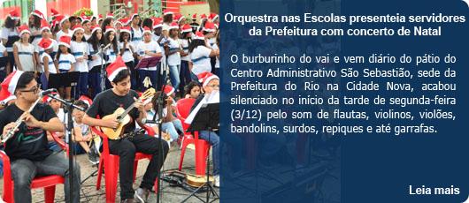 Orquestra nas Escolas presenteia servidores da Prefeitura com concerto de Natal
