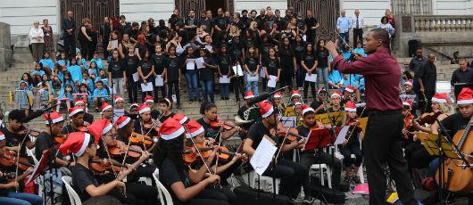 Espetáculo do Programa Orquestra nas Escolas conquista a Cinelândia
