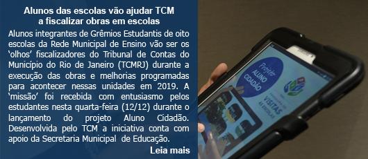 Alunos das escolas vão ajudar TCM a fiscalizar obras em escolas
