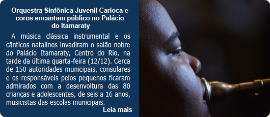 Orquestra Sinfônica Juvenil Carioca e coros encantam público no Palácio do Itamaraty