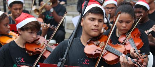 Orquestra nas Escolas faz hoje concerto de Natal no Cristo
