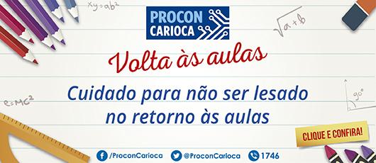Procon Carioca Volta as Aulas