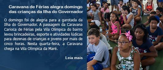 Caravana de Férias alegra domingo das crianças da Ilha do Governador