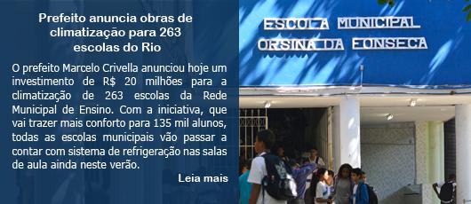 Prefeito anuncia obras de climatização para 263 escolas do Rio