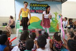 Caravana de Férias alegra crianças da Ilha do Governador