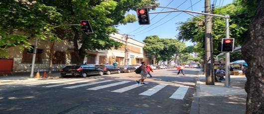 CET Rio implanta nova sinalização na Rua Santa Fé, no Méier.