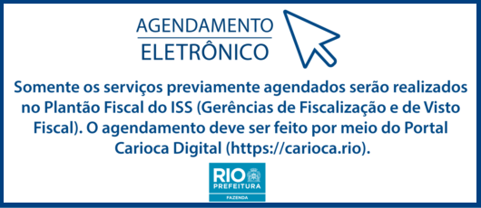 Banner agendamento iss - 2019