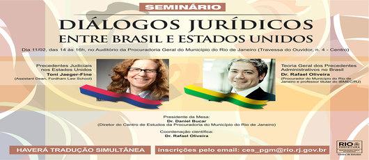 5477c6acad PGM promove seminário sobre Diálogos Jurídicos entre Brasil e Estados  Unidos ...