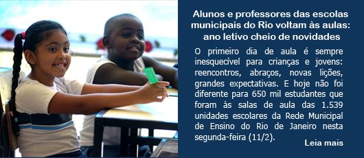 Alunos e professores das escolas municipais do Rio voltam às aulas: ano letivo cheio de novidades