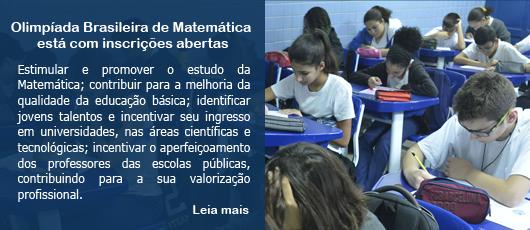 Olimpíada Brasileira de Matemática está com inscrições abertas