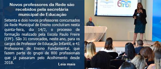 Novos professores da Rede são  recebidos pela secretária  municipal de Educação