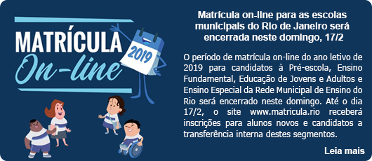 Matrícula on-line para as escolas municipais
