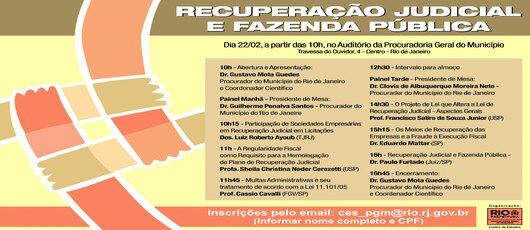 PGM promove palestra sobre Recuperação Judicial e Fazenda Pública