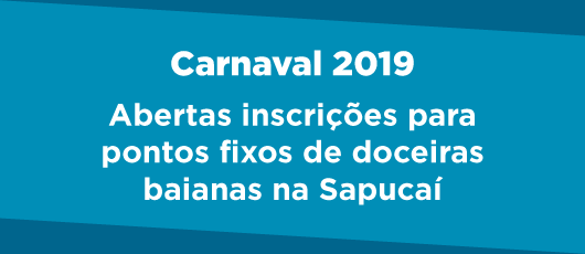 Banner Doceiras Baianas 2019 - Carnaval