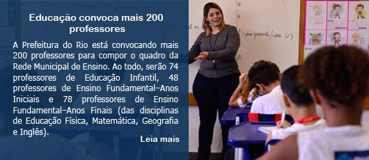 Educação convoca mais 200 professores