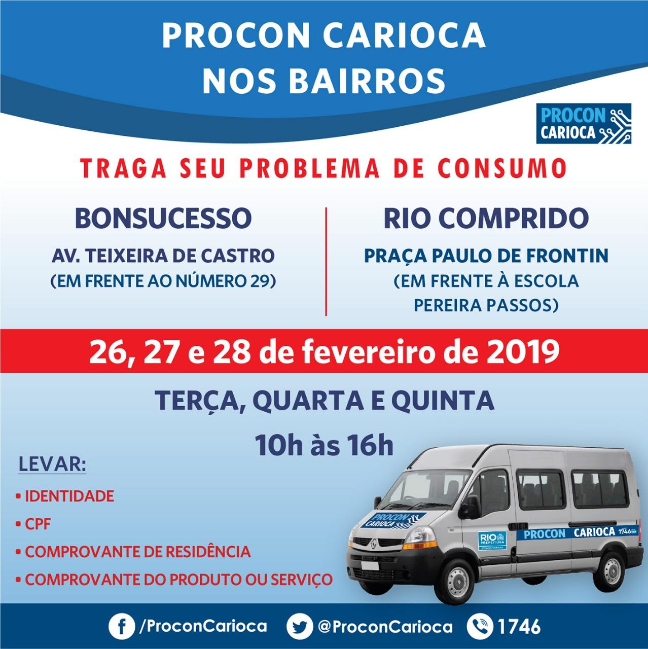 Procon Carioca chega a Bonsucesso e Rio Comprido