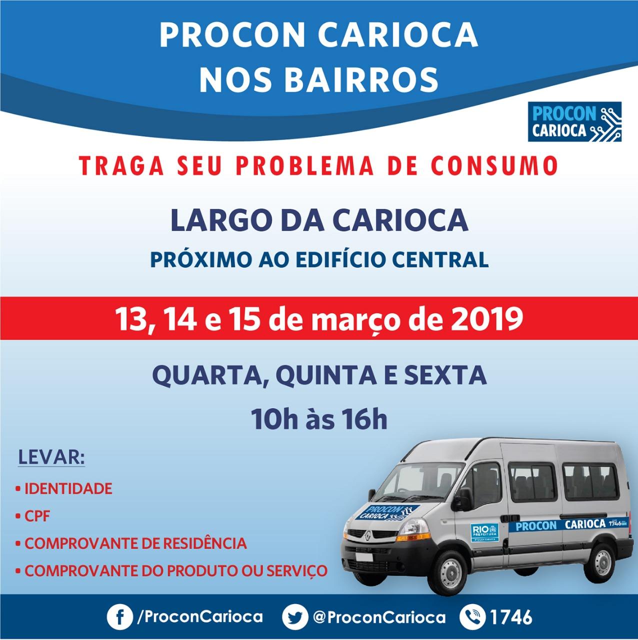 Procon Carioca atende no Largo da Carioca