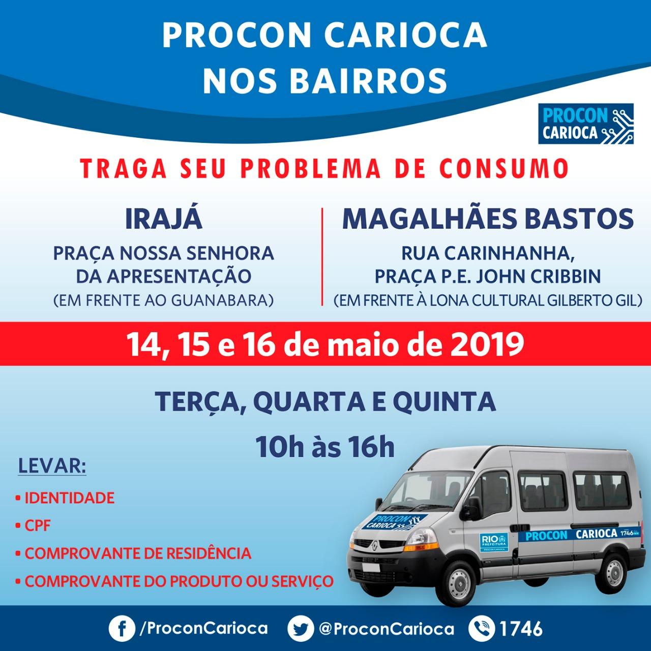 Procon Carioca atende em Irajá e Magalhães Bastos