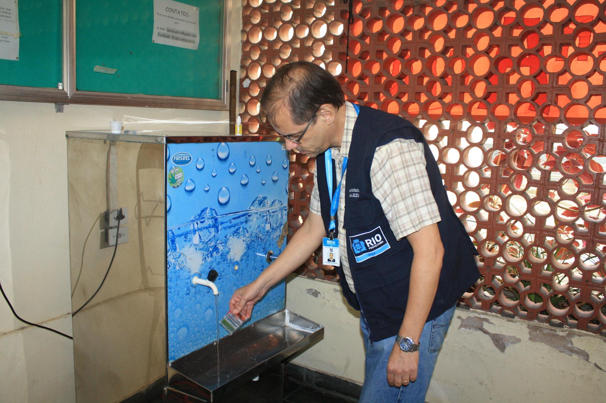 Vigilância Sanitária desinterdita reservatórios da Unirio