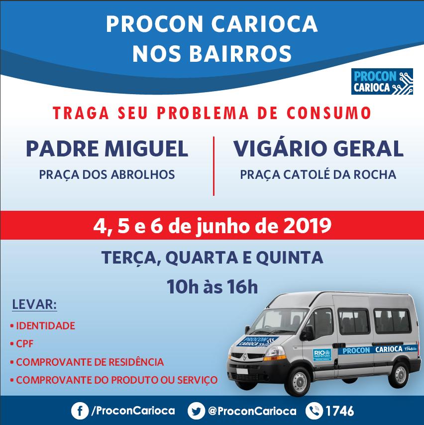 Procon Carioca leva atendimento a Padre Miguel e Vigário Geral