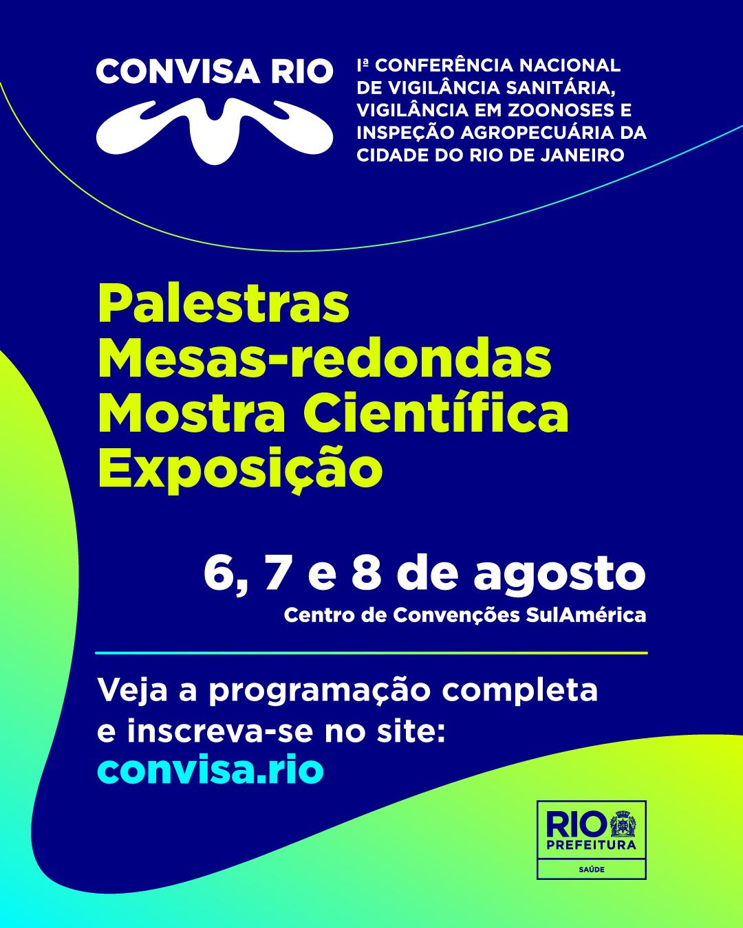 Convisa Rio: Vigilância esclarece sobre confirmação de inscrição