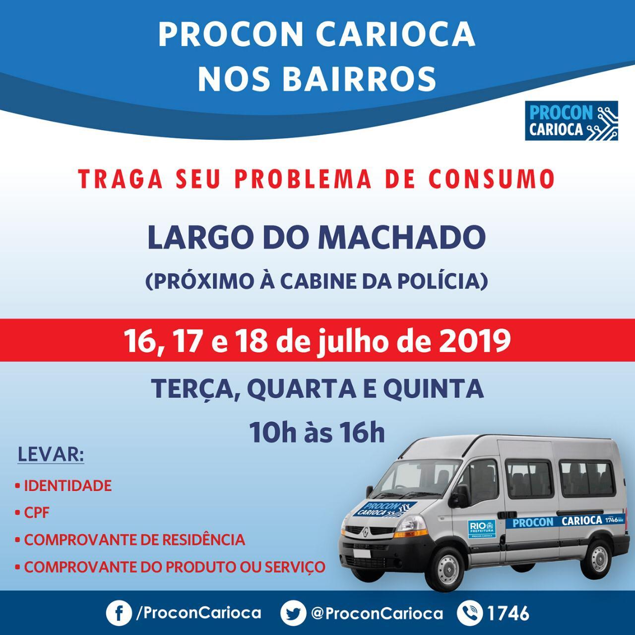 Procon Carioca atende em Madureira e no Largo do Machado