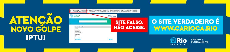 Rio – Prefeitura identifica site falso para emissão de boletos de IPTU